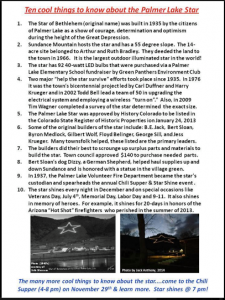 palmer lake star info